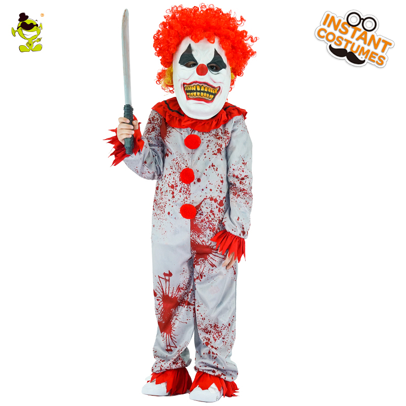 Boys Evil Clown Costumes Halloween Masquerade Party Bloody Buffon Role Play Outfit Children Grim Killer Disguise Sets-in Boys Costumes from Novelty ...  sc 1 st  AliExpress.com & Boys Evil Clown Costumes Halloween Masquerade Party Bloody Buffon ...