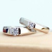 Bán Hot! khuyến mãi 925 Sterling Bạc Vài Đồ Trang Sức Nhẫn Cặp, Engagement Ring Men Top Chất Lượng zircon Đồ Trang Sức Bán Buôn RJ