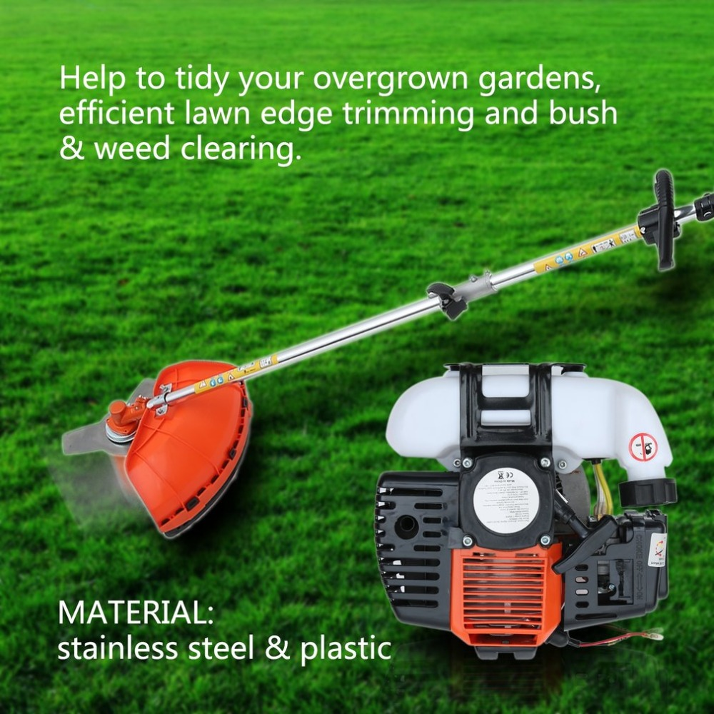 52CC 4 in 2 Multifunctional Gasoline Outdoor Grass Strimmer Brush Cutter Trimmer Powerful and Durable Garden Lawn Mower