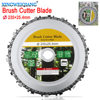 9 Inch Grinder Disc and Chain Fine Cut Chain Set For 235x25.4mm Angle Grinder