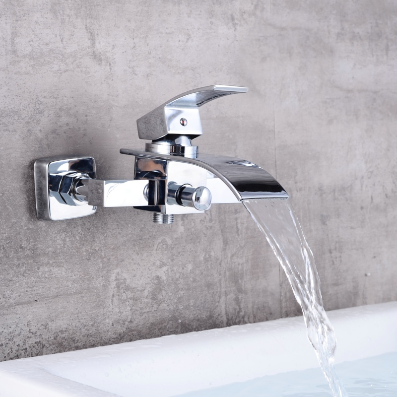 becola basin tap bathroom faucet brass chrome bathtub faucet wall ...