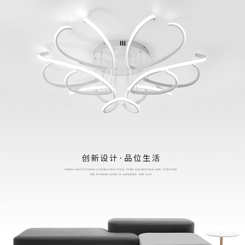 Led Ceiling Lights Modern Lamp Aluminum Remote Control Dimming Lighting Fixture Living Room Bedroom Restaurant Study room Light