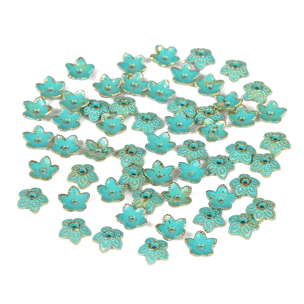 Spacer Charms Beads 10Pcs Verdigris Patina Plated Bead Jewelry Bracelet Making