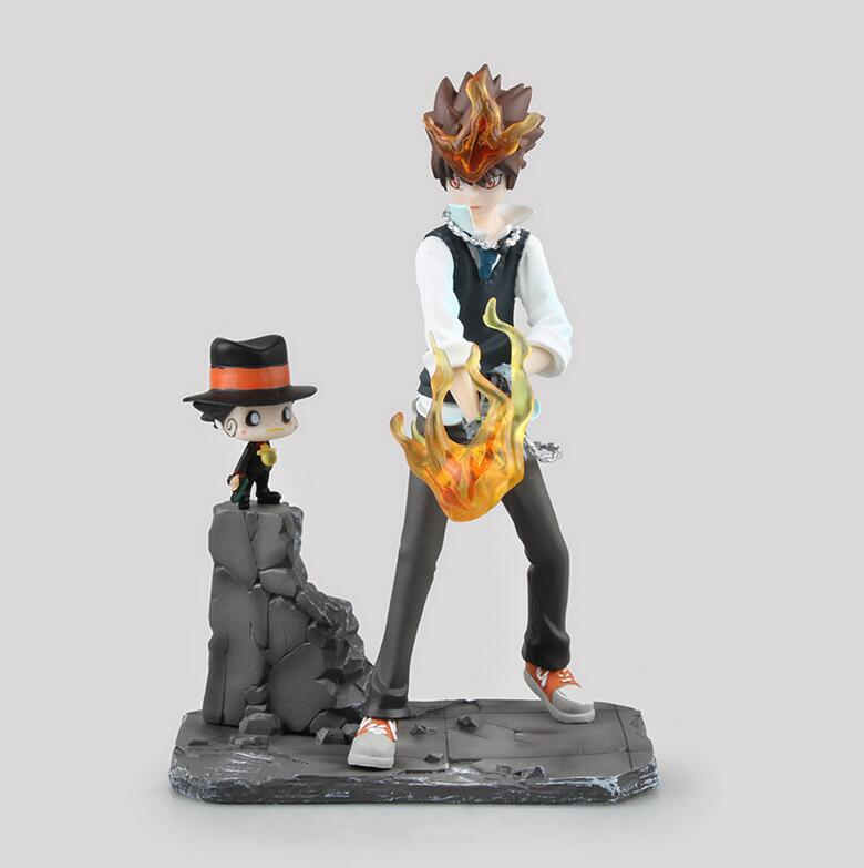 18cm Katekyo Hitman Reborn Sawada Tsuna Doll Cartoon Anime Action Figure PVC toys Collection figures for friend gift image