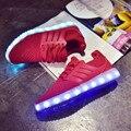 Hombre LED Iluminado Zapatos Para Adultos Baratos Hombres Coloridos Zapatos Ocasionales Luminosos Light Up Glow Zapatos Chaussure Masculino Tenis Femenino