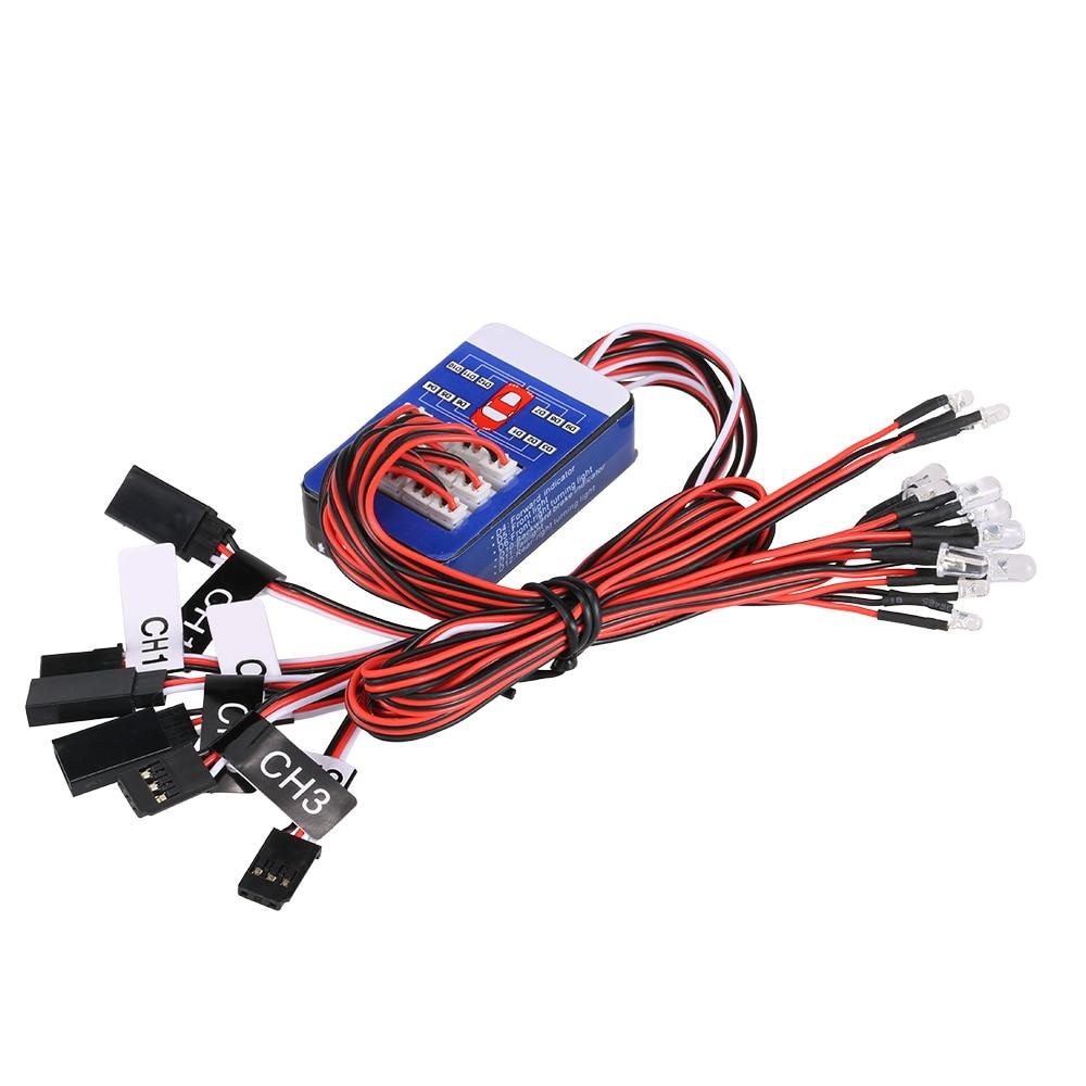 12 Led Lighting System Kit Smart Simulation Lights 1 10 Drift On Lamp Lightings Gt Wholesale Lamps 5mm Leds Rc Car Steering Brake Flash Light For Scale
