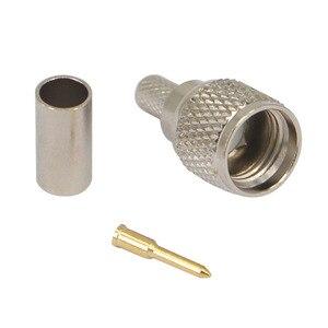 Image 2 - 100 stück RF stecker mini UHF männlichen für RG58 RG142 LMR195 kabel adapter