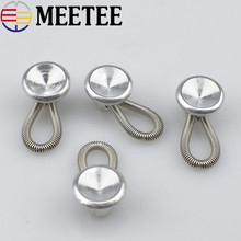 MEETEE 100pcs Metal  Shirt Collar Extenders Expanders with Flexible Spring