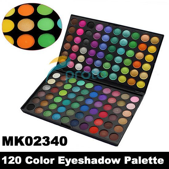 Free Shipping by EMS! PRO 120 Full color eyeshadow palette makeup eyeshadow wholesale MK02340