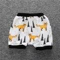 2016 Verão Calções de Lazer para Crianças Meninos Da Criança Do Bebê Meninas Impressão de Algodão Macio Calças Haren Casuais Calças Curtas Kids Clothing