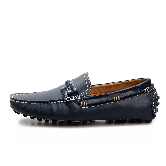 Men Loafers Shoes 2016 New Fashion Genuine Leather Brand Men Casual Shoes Spring Autumn Mens Flats Slip Ons Massage Male Shoes
