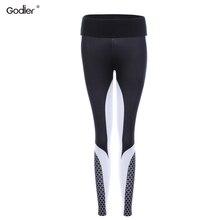Godier Лидер продаж штаны с принтом в виде сот женские Леггинсы пуш-ап Профессиональные фитнес повседневные Леггинсы брюки Jc0055
