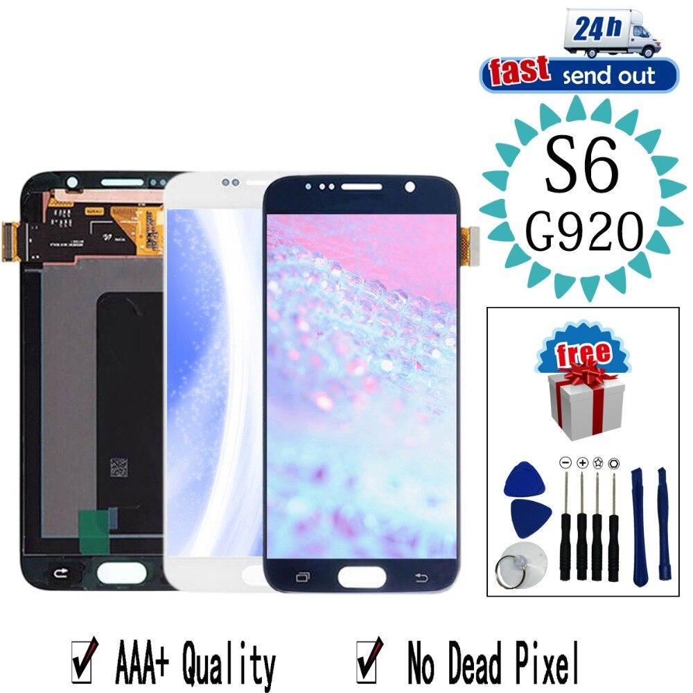 AMOLED LCD Pour SAMSUNG Galaxy S6 LCD Affichage G920i G920P G920f G920V Écran Tactile Testé Digitizer Assemblée