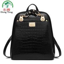 Тиснение искусственная кожа женщины рюкзак женщина корейский стиль дамы ремень сумка для ноутбука ежедневно рюкзак для девочек школьный жесткий ручка рюкзак