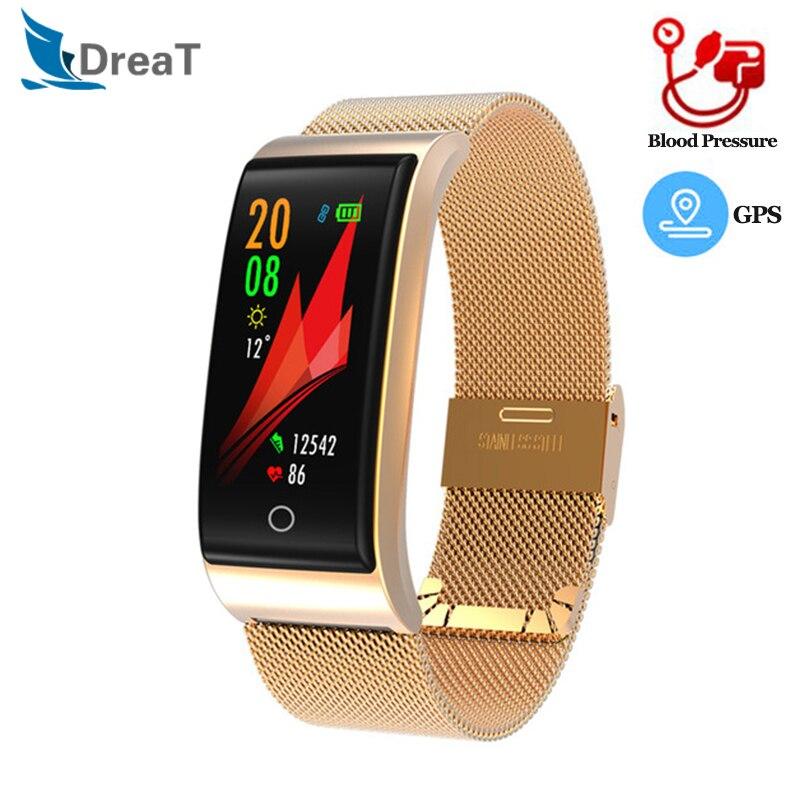F4 Fitness Armband Männer Frauen Smart Band Armband Blutdruck Herz Rate Monitor Fitness Uhr Schrittzähler GPS Traker PK CK11S