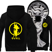 Winter Coats Males Jackets Dragon Ball Z Hoodie Anime Son Goku Cosplay Costumes Informal Heat Sweatshirts