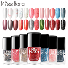 MISSNORA Spring Gel Nail Polish Pink Lacquer 6ml Jelly Sequins Base for Peel Off Nails Oil Top Base Gel Varnish Nail Art недорого