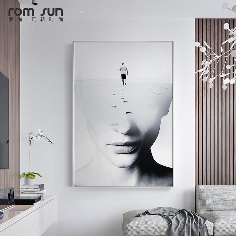 Abstract Brainstorming Women Face Nordic Style Canvas -2221