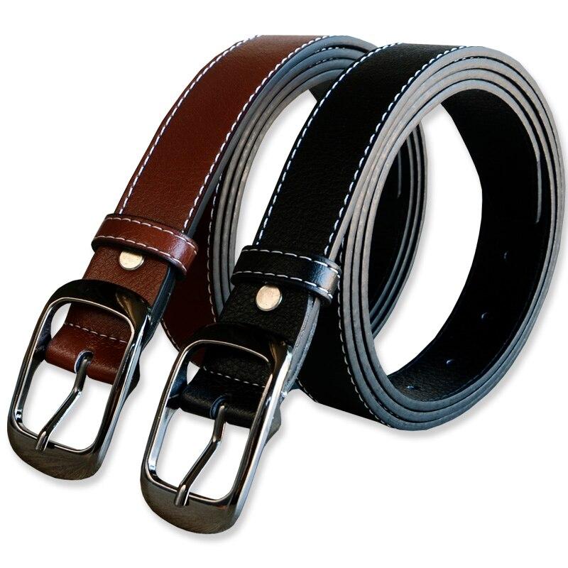 New 3.0cm wide 130 150cm size Fashion brand 100% genuine leather women's belt buckle belt women's trousers 50inch high quality