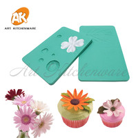 2 Petal Flower Veiner Mold Sugar Paste Moulds Silicone Floral Veining Mold Fondant Cake Embossing Cupcake