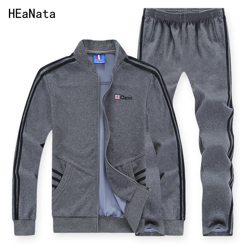 Hommes survêtement ensemble utilisation pour 130 kg grande taille 6XL 7XL 8XL ensembles de vêtements de sport lâche garder au chaud Gym vêtements homme Jogging costumes 2 pices