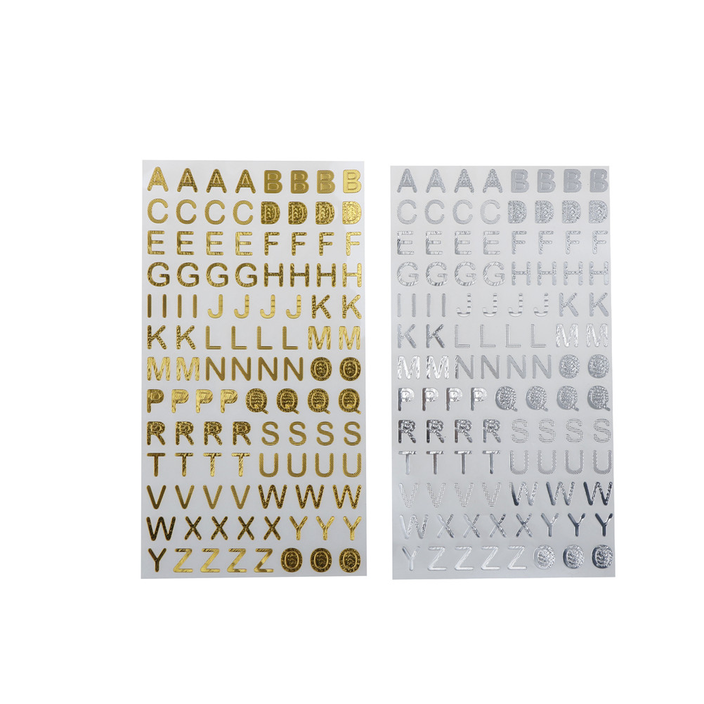 Gold Glitter Adhesive Letters and Numbers New Free Postage 20mm
