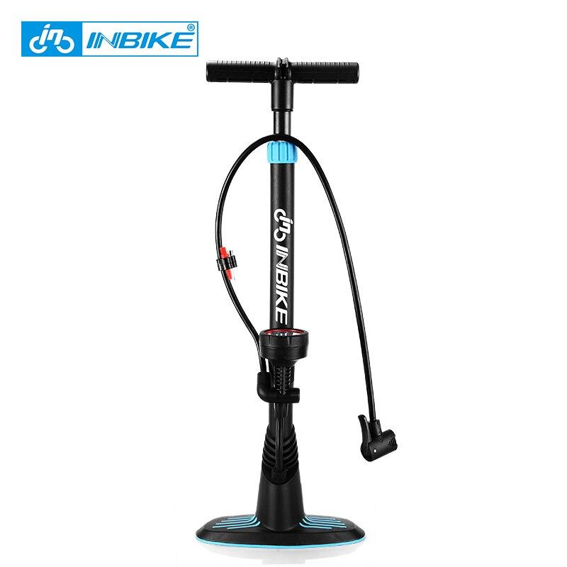 INBIKE pompe à vélo vtt pompes de plancher de vélo avec jauge 160PSI pompe pour Schrader & Presta S16319