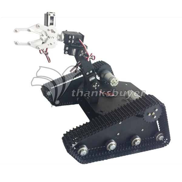 TK 400 Creeper Truck Chassis Crawler Robot Base Kit with 4DOF Robot Arm and LD 1501MG