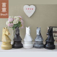 Chess Horse Ornaments Home Accessories Do The Old Retro Pregnant Northern European Style Model Room Decorated