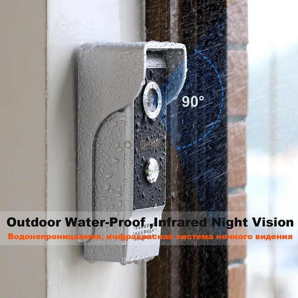 HomeFong الفيديو باب الهاتف السلكية الباب إنترفون للمنزل فيديو إنترفون دعم الحركة كشف تسجيل الباب كاميرا 7 بوصة الاتصال الداخلي
