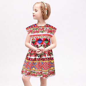 Image 2 - W.L.MONSOON Princess Girls Dress with Sashes 2018 Brand Children Summer Dress Flower Vestidos Kids Dresses for Girls Clothes