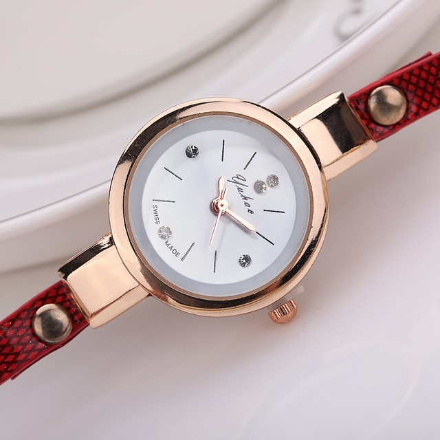 Bracelet Gold Leather Casual Bracelet Watches 4