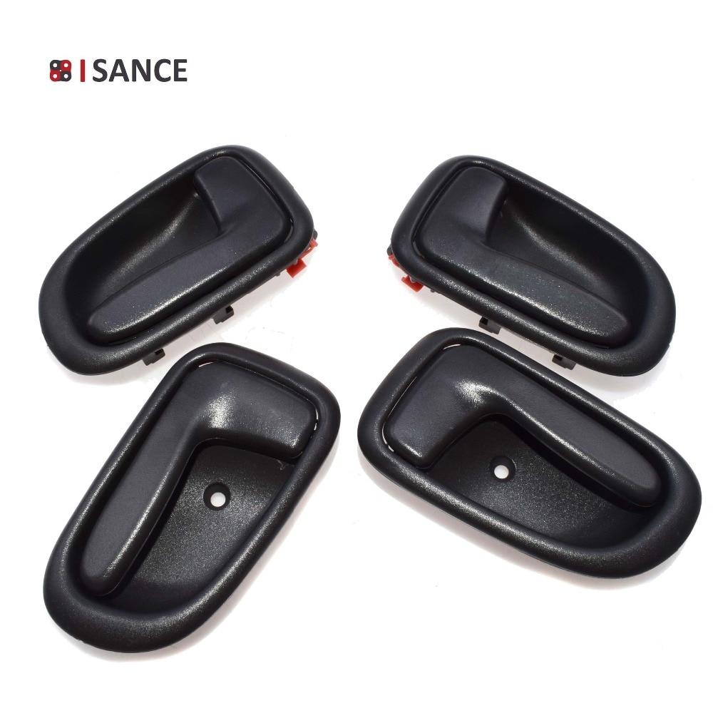 For 93-97 Corolla Prizm Door Handles 4Pcs Right/&Left Front/&Rear Exterior Black