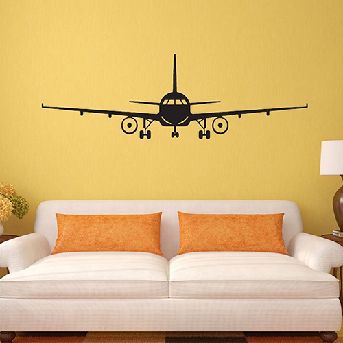Fashion Airplane Aircraft Wall Stickers Decals Home Kids Bedroom DIY Decor image