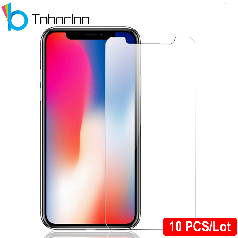 10PCS Film-Protector Tempered-Glass iPhone X 8-Plus for XS MAX 6/6s/7/.. SE 5C