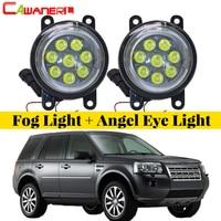 Cawanerl For Land Rover Freelander 2 LR2 FA_ Closed Off Road Vehicle 2006 2014 Car LED Fog Light Angel Eye Daytime Running Light