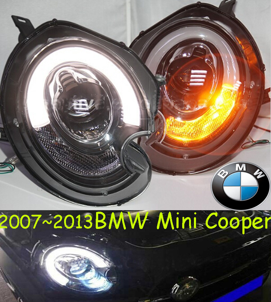 car-styling,Mini headlight,2007~2013,Free ship! Mini fog,chrome,LED,318i,330i,335i,525i,528i,530i,535i,640i,740i,745i,x1,x3,x5