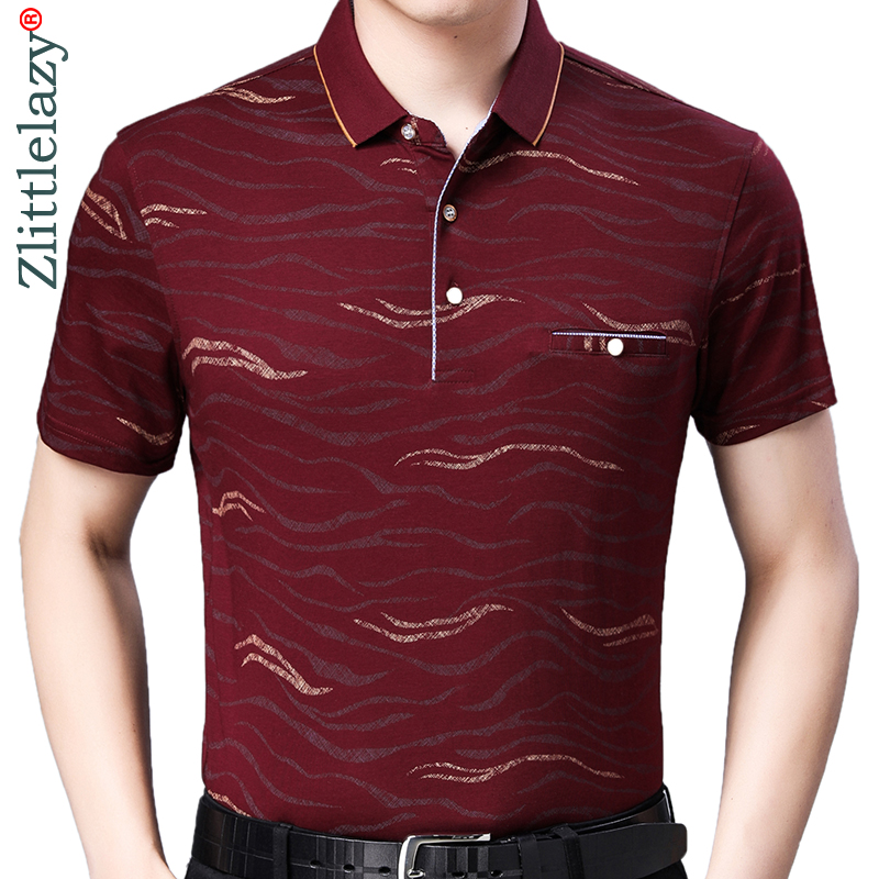 2019 brand casual summer striped short sleeve   polo   shirt men poloshirt jersey pocket mens   polos   tee shirts dress fashions 32545