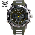 SMAEL Newest Alloy Quartz Digital Watch Man Waterproof Brand Sports Casual Watches Men LED Military Wristwatch Best Gift Clocks