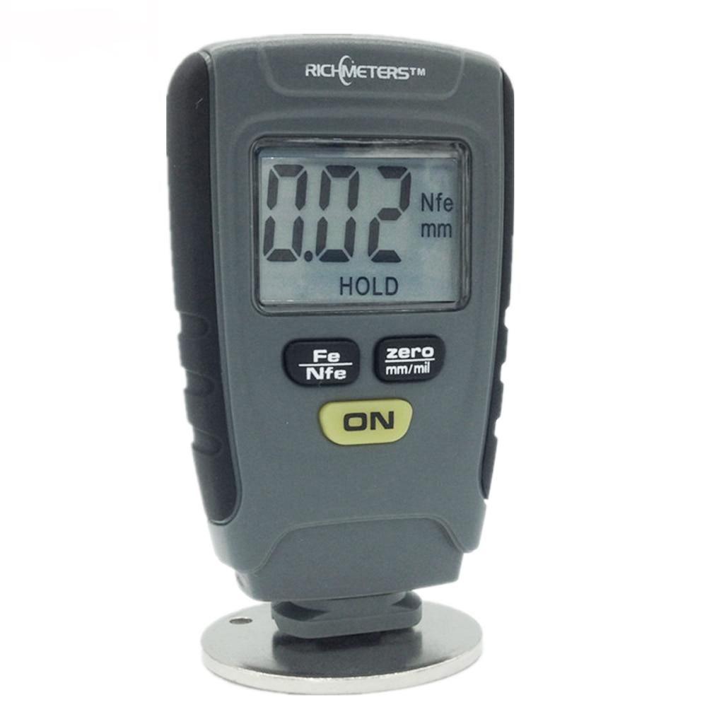 цена на RICHMETERS RM660 Digital paint coating thickness gauges paint gauge thickness Fe/NFe 0-1.25mm for Car Iron Aluminum Base Metal