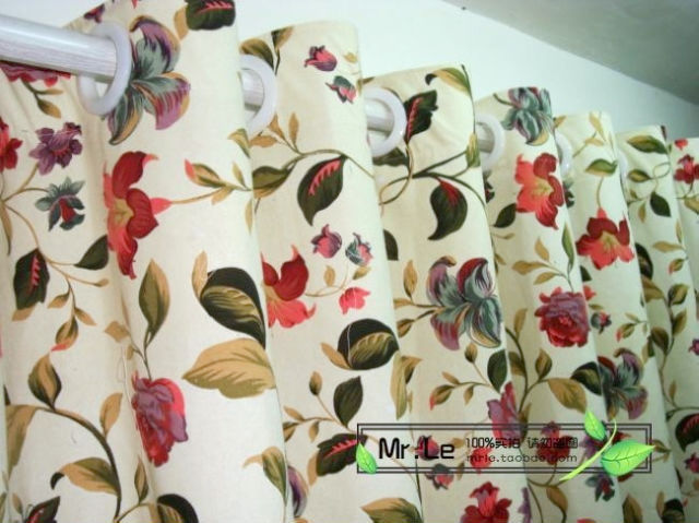 Ls-cl-011 100% cotton canvas customize measurement finished curtains customize