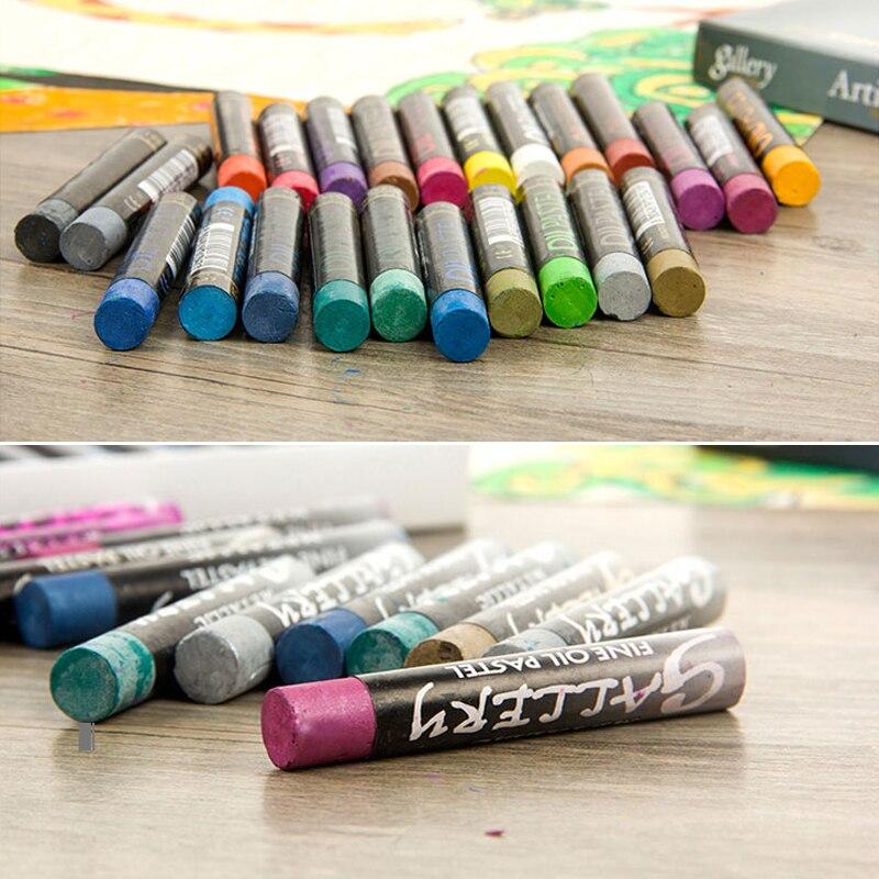 12/24 металлик Цвета масла pastelfor художник студент мягкий карандаш Рисование граффити ручка школьные канцелярские товары для рукоделия подарок