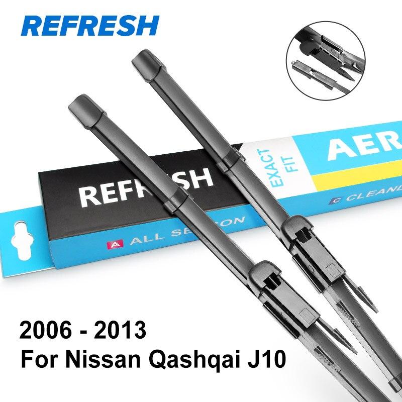 REFRESH Щетки стеклоочистителя для Nissan Qashqai J10 J11 Точная установка 2006 2007 2008 2009 2010 2011 2012 2013 - Цвет: 2006 - 2013 ( J10 )