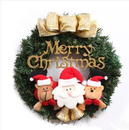 35 cm decorativo colgante de la navidad guirnalda con patrn del mueco de nieve decoracin para