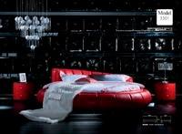 Дизайнерская современная натуральная кожа мягкая кровать/двуспальная кровать king/queen size спальня мебель для дома круглый кровать современны