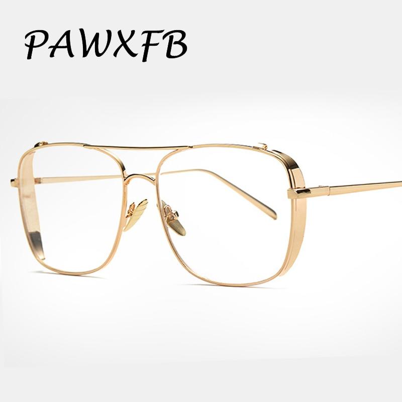 59379c60df Pop Age 2018 New Vintage Clear Lens Glasses Metal glasses Gold Frames Women  Men Myopia glasses Female Optical Eyeglasses Oculos