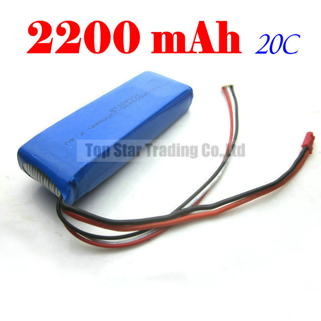 Free shipping RC Helicopter Battery High Power Capacity 7.4V 2200mAh 20C Li-poly Battery For SF556 557 558 lion power li po 11 1v 5300mah 40c high capacity lithium polymer battery for rc heli cars truck r c model toy free shipping