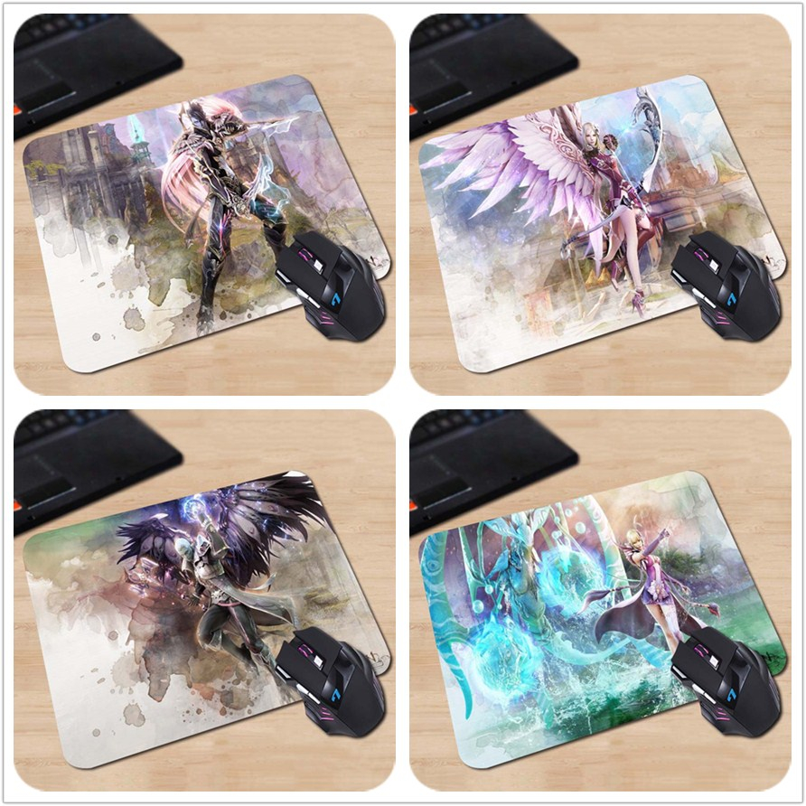 High Quality Customized Mouse Pad AION Mmorpg Artwork Video Game Characters Computer Notebook Durable Rectangle Mouse Mat Pad image