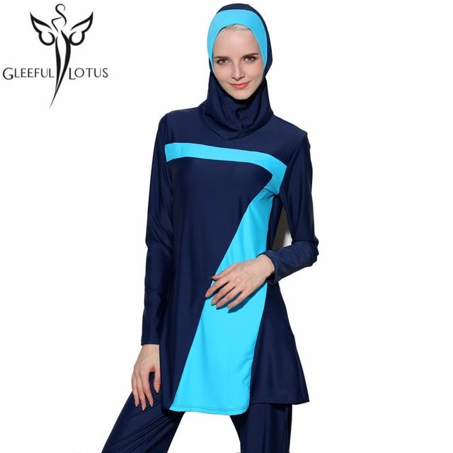 c1c6f3ae1d5 muslim swimsuit Islamic swimwear full coverage bathing suits plus size  tankini long sleeve swimsuits modest swimwear hijab