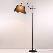 5 W Led Ampoule Cadeau Lampes De Plancher Moderne Pour Le Salon chambre Étude Lampadaires Noir Fer Blanc Tissu Décor Lumières 110-220 V